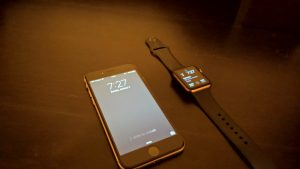 Apple phone and watch