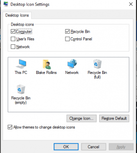 Desktop Icon Settings